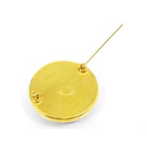 Chanel Gold Tone CC Brooch