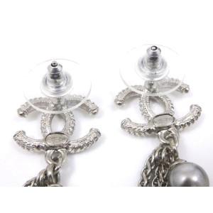 Chanel Sterling Silver Earrings
