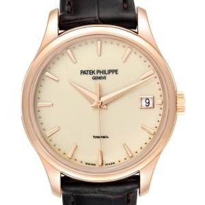 Patek Philippe Calatrava Hunter Case Rose Gold Mens Watch 5227 Box Papers