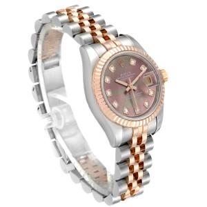 Rolex Datejust EveRose Gold Steel Diamond Ladies Watch 179171 Box