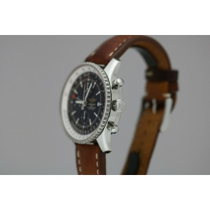 Breitling Navitimer World Chronograph GMT Automatic Watch A24322 46mm