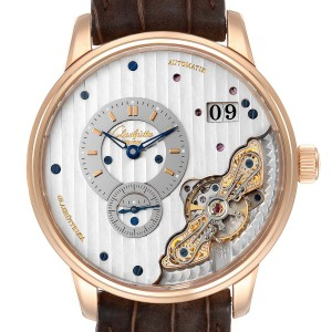 Glashutte Original PanoMaticInverse Rose Gold Mens Watch 1-91-02-01-05-30