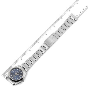 Rolex Oyster Perpetual 34mm Blue Dial Steel Mens Watch 124200