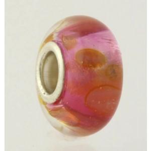 NEW Pink Metallic Charm - 925 Sterling Silver Core Women's Fashion