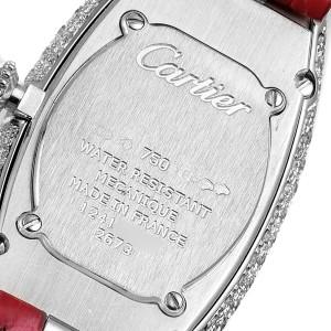 Cartier Baignoire Allongee White Gold Diamond Ladies Watch