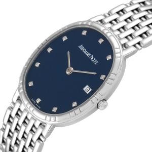 Audemars Piguet White Gold Blue Diamond Dial Unisex Watch