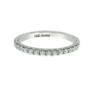 Jack Kelege 18K White Gold .35ctw Diamond Ring Size 6