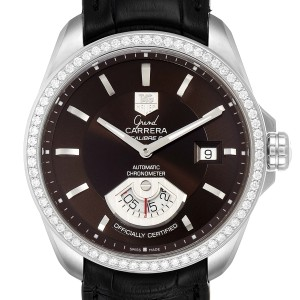 Tag Heuer Grand Carrera Date Brown Dial Steel Mens Watch WAV511E