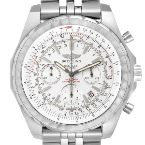 Breitling Bentley Motors T White Dial Chronograph Mens Watch A25363 Box