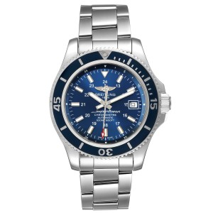 Breitling Superocean II Blue Dial Steel Mens Watch