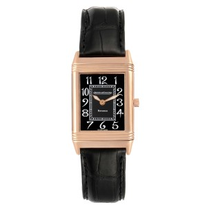 Jaeger LeCoultre Reverso Midsize Rose Gold Mens Watch 250.2.86