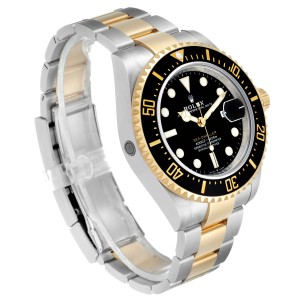 Rolex Seadweller Black Dial Steel Yellow Gold Mens Watch