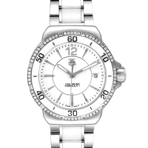 TAG Heuer Formula 1 White Ceramic Diamond Ladies Watch WAH1213