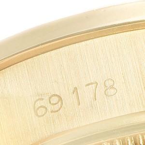 Rolex President Datejust 18K Yellow Gold Pyramid Ladies Watch 69178