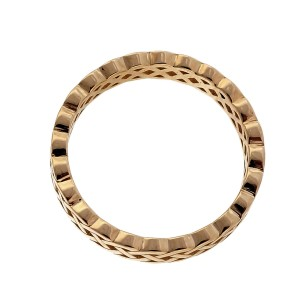 Peter Suchy Celtic Woven Open Cut Out 14K Yellow Gold Wedding Band Ring Size 6.5