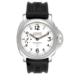 Panerai Luminor Marina 44mm White Dial Steel Mens Watch PAM00660