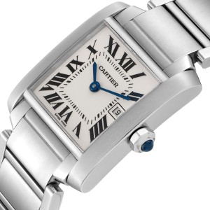 Cartier Tank Francaise Midsize 25mm Ladies Watch W51011Q3