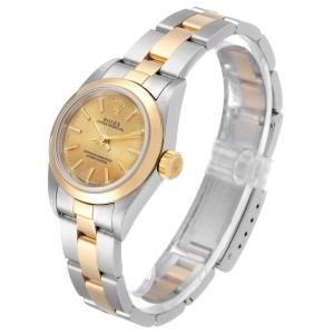 Rolex Oyster Perpetual NonDate Steel Yellow Gold Ladies Watch
