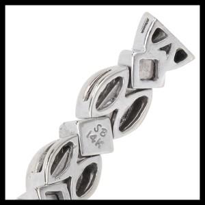 Sonia B 14K White Gold & 1.75ct. Diamond Flex Bracelet