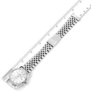 Rolex Datejust Steel White Gold Silver Dial Vintage Mens Watch 16014