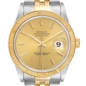 Rolex Datejust Turnograph Steel Yellow Gold Mens Watch 16263