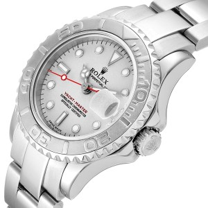 Rolex Yachtmaster 29 Steel Platinum Ladies Watch