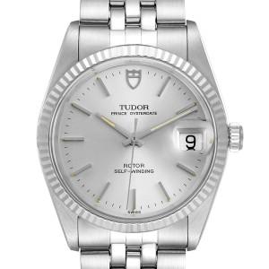 Tudor Prince Date Silver Dial Steel Vintage Mens Watch 74034