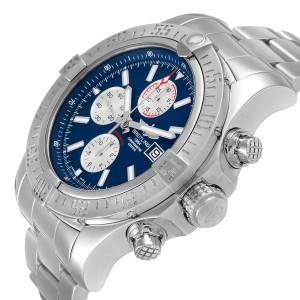 Breitling Aeromarine Super Avenger Blue Dial Steel Mens Watch A13371