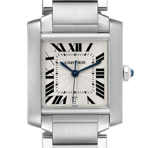Cartier Tank Francaise Large Steel Automatic Mens Watch W51002Q3