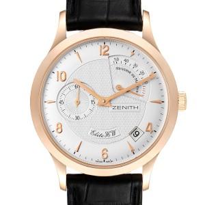 Zenith Reserve De Marche Elite HW 18k Rose Gold Mens Watch 11.1125.655