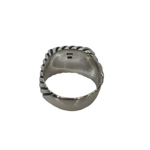 David Yurman Sterling Silver Cable Wave Ring