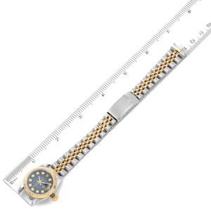 Rolex Datejust 26mm Steel Yellow Gold Diamond Ladies Watch 69173 Box Papers