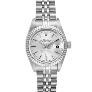 Rolex Datejust Steel White Gold Jubilee Bracelet Ladies Watch 69174 Papers