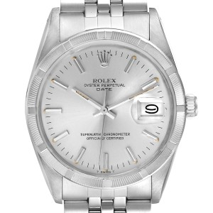 Rolex Date Stainless Steel Silver Dial Vintage Mens Watch 15010