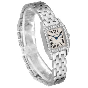 Cartier Santos Demoiselle White Gold Diamond Ladies Watch WF9005Y8