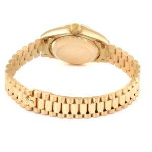 Rolex President Datejust 26 Yellow Gold Black Dial Ladies Watch 69178