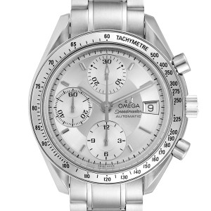 Omega Speedmaster Date Silver Dial Automatic Mens Watch 3513.30.00