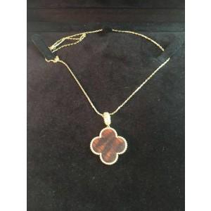 Van Cleef & Arpels Magic Alhambra 18K Rose Gold Snakewood Pendant Necklace