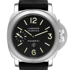 Panerai Luminor Marina Logo 44mm Black Dial Mens Watch PAM00005