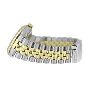 Rolex Datejust 16233 Stainless Steel & Gold Silver Stick Dial 18K Gold Bezel Mens Watch