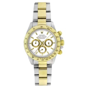 Rolex Daytona 16523 Stainless Steel & 18K Gold  White Dial Zenith Movement Mens 40mm Watch