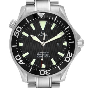 Omega Seamaster 41mm Black Dial Stainless Steel Mens Watch