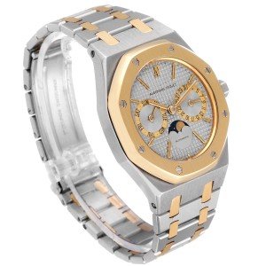 Audemars Piguet Royal Oak Steel Yellow Gold Moonphase Mens Watch 25594
