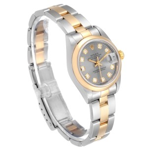 Rolex Datejust Steel Yellow Gold Diamond Ladies Watch 69163
