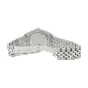Rolex Datejust 116234 Stainless Steel 18K Gold Bezel Silver Stick Dial Watch