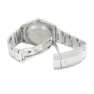 Rolex Oyster Datejust 116234  Stainless Steel Salmon Stick Dial 18K Gold Bezel Watch