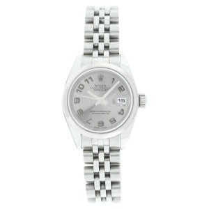 Rolex Stainless Steel Datejust 179160 Silver Con Arabic Dial Womens Watch