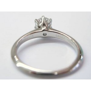 Tiffany & Co. Platinum & Round Diamond Solitaire Ring