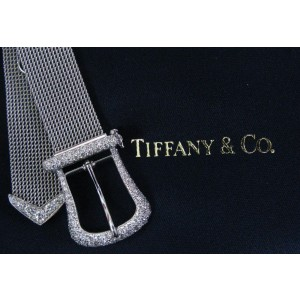 Tiffany & Co. 950 Platinum & 3.00ct Diamond Buckle Bracelet