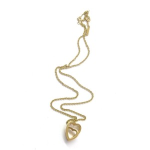 Cartier 18Kt Double Heart Pendant Necklace